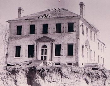The Conrad House on Cameron Street during demolition